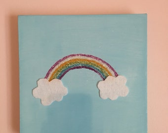 Glitter Rainbow Painting