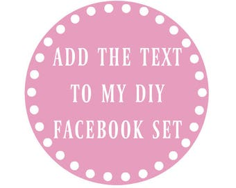 Purchase Instead of DIY Listing - I Will Add The Text For You - Facebook Banner - Personalized Upgrade - Facebook Set - Add Text Upgrade