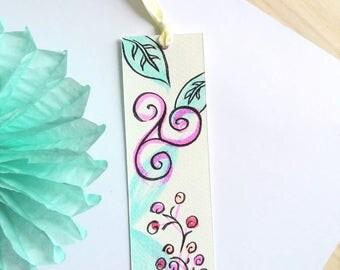 Bookmarks watercolor floral Triskel
