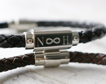 Infinity Bracelet Men - Leather Bracelet