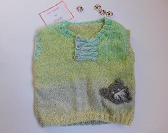 Tank top or baby vest size 3 months sleeveless