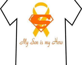 Men's Cancer Awareness T-shirt, My Son Is My Hero