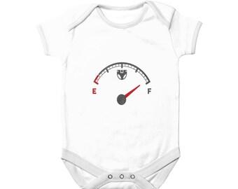 Full Diaper Meter Alert Baby Bodysuit Funny Full Diaper Warning BabyGrow Baby Shower Gift