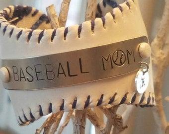 Personalized Baseball Mom Cuff Bracelet