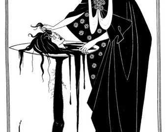 Salome Illustration From Ocsar Wilde's Play By Aubrey Beardsley A3 / A2 Poster Re Print V.2