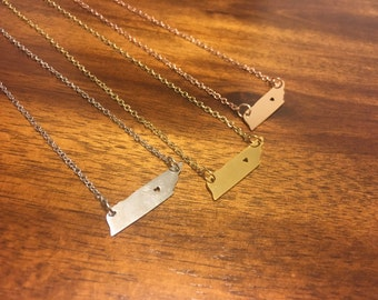 Tennessee Necklace - Tennessee Pendant - Tennessee Charm - Tennessee Jewelry - Tennessee Outline - Tennessee