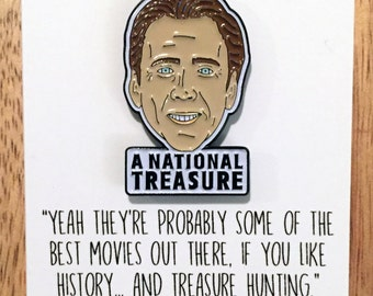 Nic Cage: A National Treasure, the enamel pin