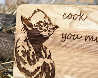 Gift for|father Gift for|boyfriend Custom cutting board personalized gift for|dad kitchen decor Gift for|husband Cheese board Star Wars Yoda