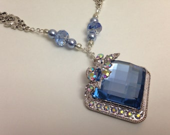 Lovely blue statement pendant.