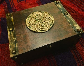 Doctor Who Inspired Seal of Rassilon box prop replica