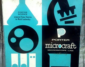 50's microscope set, Porter Labs Microcraft science kit