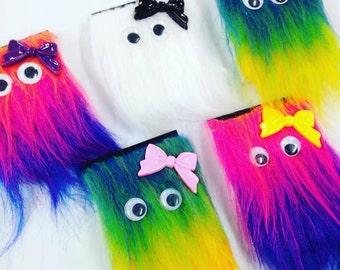 Kids Bright Fun Furry A7 Notebook, Memo Pad, Stationery, Back to School, Office, Kawaii, Cute