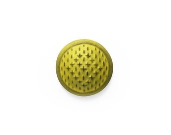 Ceramic Yellow Sashiko Cabochon 1 piece