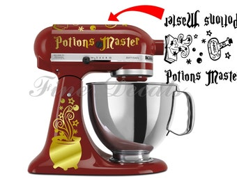 Kitchen Mixer Harry Potter Inspired Potions Master Set Decal Hogwarts Vinyl Decal Sticker KitchenAid