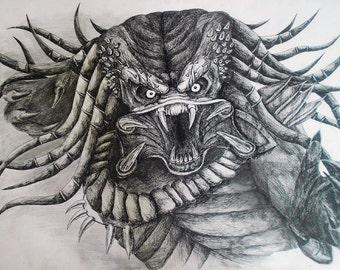 Monster Original Drawing Wall Art