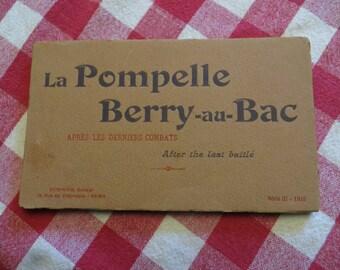 Antique la Pompelle berry-au-bac  cartes postales detachables detachable postcards w/ free ship