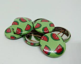 25mm Watermelon Badge