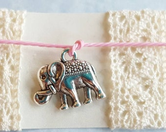 Elephant wish bracelet - choose your color