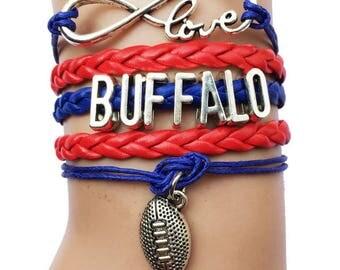 Buffalo Bills Love Friendship Charm Bracelet
