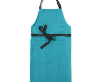 Aqua Blue Chef's Kitchen Apron (Regular Size)