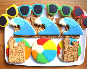 Summer Beach Cookie Cutter Set #2