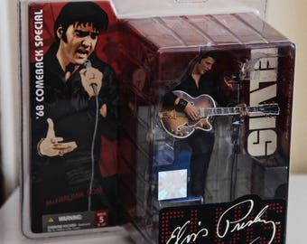 Elvis Presley Figure Guitar Microphone Chair & Stage