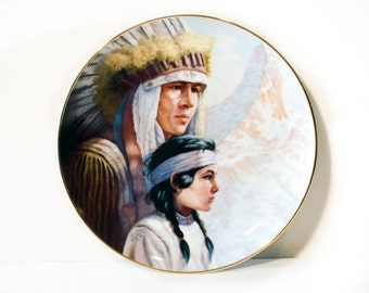 Gregory Perillo Native American Plate by BigMuddyVintageShop