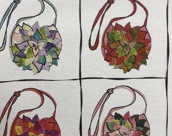 "Handbag Pattern - Silk Adaptation ""Embrace"""