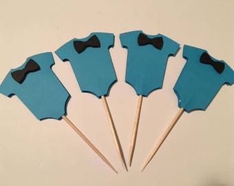 24 Little Man Cupcake Toppers