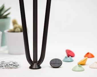 Hairpin Leg Floor Protectors - Fits all sizes of hairpin legs & colour matched to our range - Set of 4