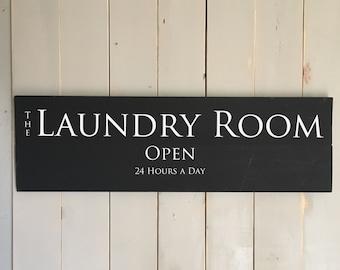 Laundry Room Decor | Wood Laundry Sign | Wood Decor | Laundry Humor | Black Laundry Sign | Laundry Decor