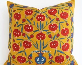 SALE Suzani Throw Pillow Suzani Pillows Decorative Pillows Suzani Lumbar Needlecraft Ethnic Bohemian Throw Pillow Accent Pillow Cushions