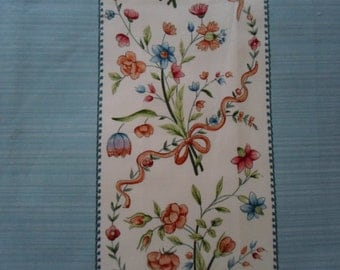 GP&J Baker Ribbon Stripe Floral in blue and cream from U.K.