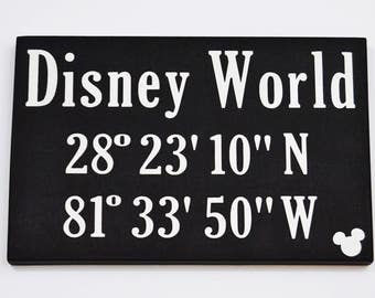 Disney World Coordinates | The Happiest Place on Earth | Disney Inspired | Gallery Wall | Happy Place
