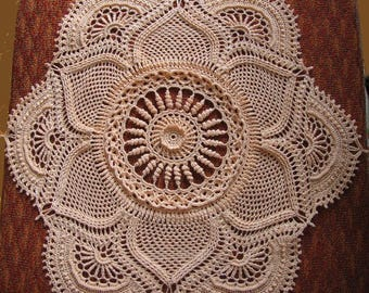 3D Crochet Doily beige Textured Doily Table decoration crochet tableclothes Handmade doily Gifts For Women doily milky Large table topper 22