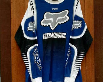 Rare!! FOX RACING long sleeve motocross shirt nice design large size