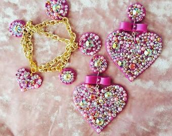 Earrings Heart Princess (earrings)
