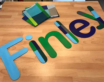 Large Wooden Letters for Wall of Bedroom or Playroom