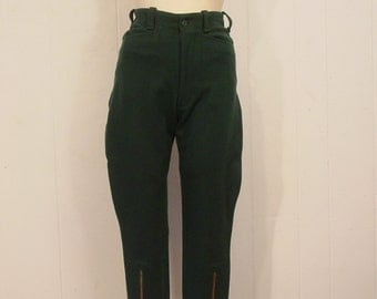 Vintage riding pants, vintage breeches, equestrian pants, small