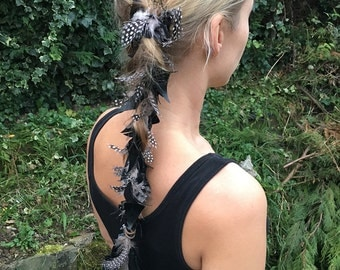 Feather extension clip in