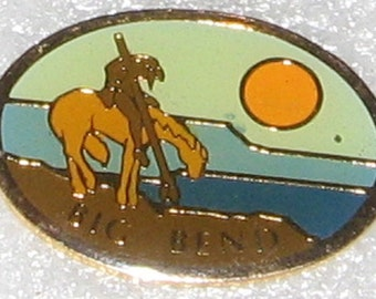 Big Bend National Park Texas enameled, hat or lapel pin. Great collectible. Great Condition. Cloisonne.