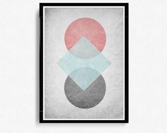 Scandinavian Print, Abstract Art Print, Mid Century Modern, Art Print, Minimalist print, Modern Wall Art Print, Abstract Art *10*