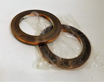 2 Rolls of 1/4 inch Wide Copper tape with Adhesive Back