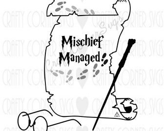 SVG Cut File-Mischief Managed-SVG-Harry Potter (Inspired)-Cricut-Silhouette-funny SVG-Instant Download-Digital File-Scrapbooking-Cut File