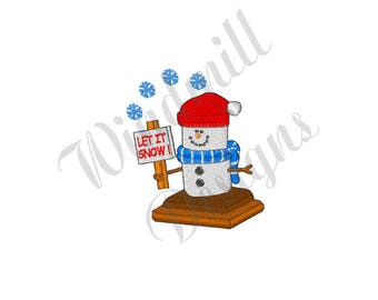 Let It Snow Smore - Machine Embroidery Design