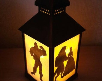 Disney Beauty and Beast Lantern