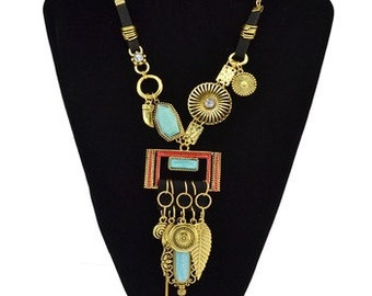 Fun Boho & Ethnic Inspired Eclectic Statement Necklace