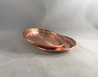 Charlotte Copper Wine Coasters