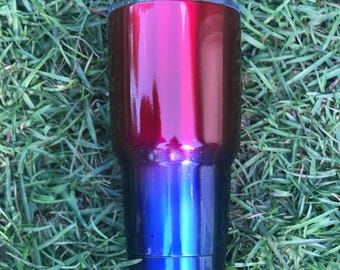 Red and blue patriotic yeti