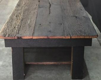 Barnwood coffee table Etsy